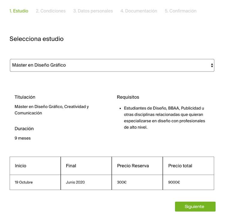 reserva nueva web